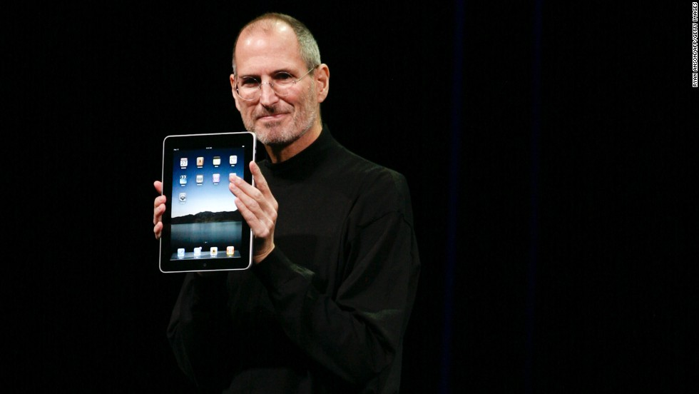 Apple CEO Steve Jobs introduced the first iPad to the world on January 27, 2010, in San Francisco. It created a new market for portable tablet computers, which have changed the way we consume video and other content on the go.