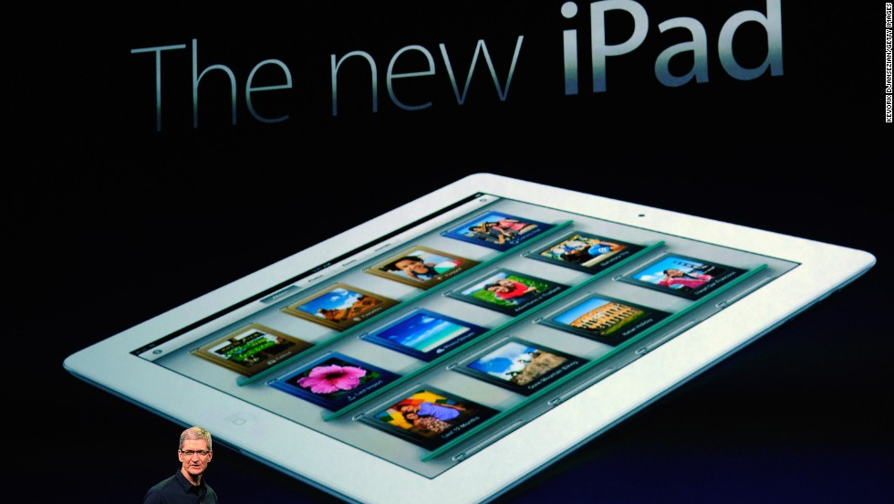 "Apple CEO Tim Cook announced the third generation of the iPad on March 7, 2012 in San Francisco. But instead of labeling it iPad 3, Apple confused some by calling it simply, ""the new iPad."""