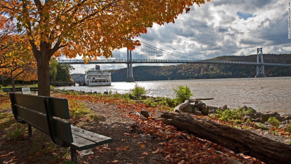American Cruise Lines hosts an eight-day trip into the Hudson River Valley from New York City.