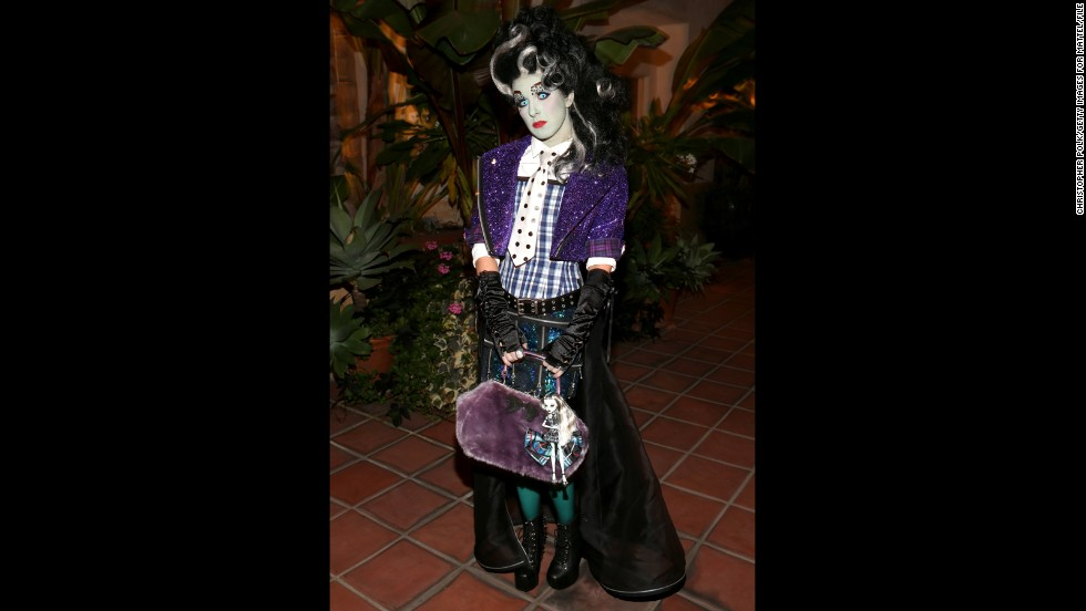 "That's not a ""Monster High"" character come to life, but ""90210's"" Shenae Grimes certainly could've fooled us. The actress went as Frankie Stein for Matthew Morrison's Halloween party in 2012."