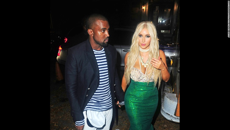 Kanye West and Kim Kardashian had so much fun dressing up for Halloween last year, they stepped out in two different costumes. First, Kanye was the sailor to Kim K.'s mermaid at the 2012 Midori Green party in New York City. Then...