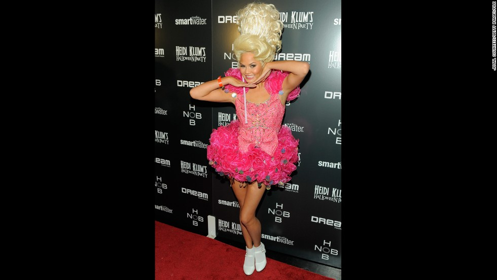 In 2011, Chrissy Teigen hopped aboard the child beauty queen costume trend for Heidi Klum's annual bash.