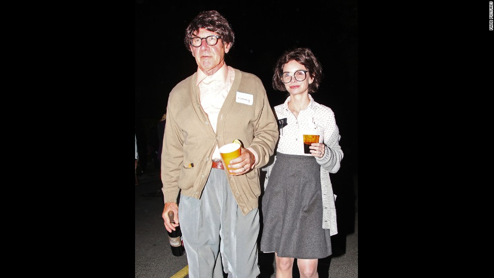 The geeks that play together, stay together. Married couple of 13 years Harrison Ford and Calista Flockhart tried on less glamorous personas for Halloween 2012.