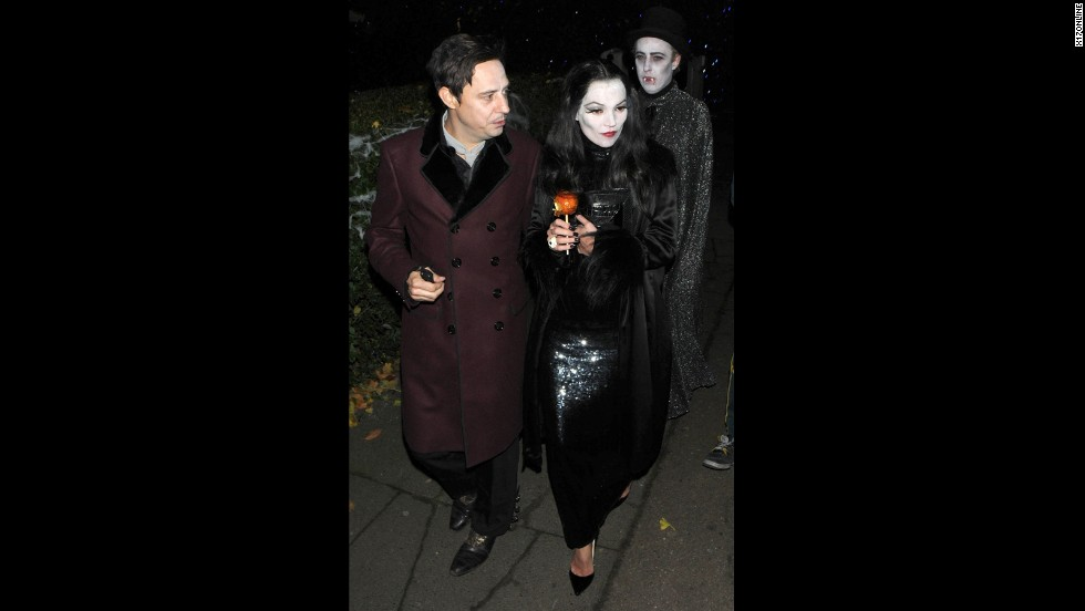 Only Kate Moss, accompanied by husband Jamie Hince in 2012, could make horror looks so haute.