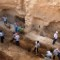 Modern-day excavation of Bahrain royal burial mound A'ali