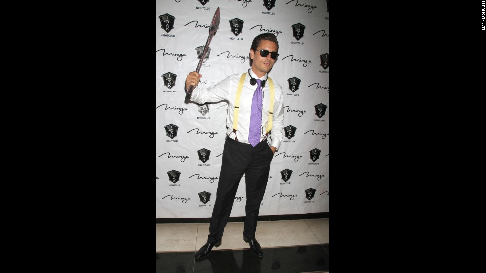 "Clearly, Scott Disick is a dead ringer for Christian Bale in ""American Psycho,"" which was his costume for a 2012 Halloween event. We're not sure if that's a good or bad thing, but there you have it."