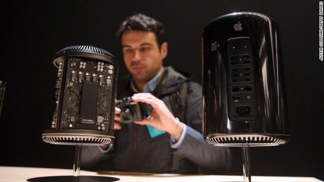 Apple's Mac Pro, which goes on sale Thursday, is designed for high-end users and starts at $2,999.