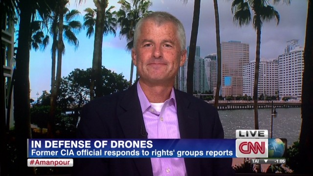 Former CIA official defends drones