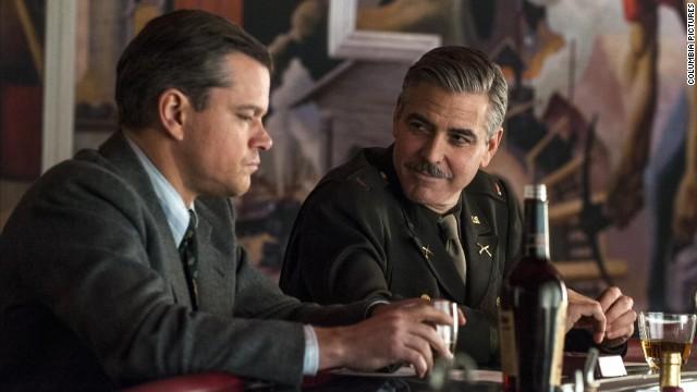 "Matt Damon and George Clooney star in the World War II drama ""The Monuments Men."""