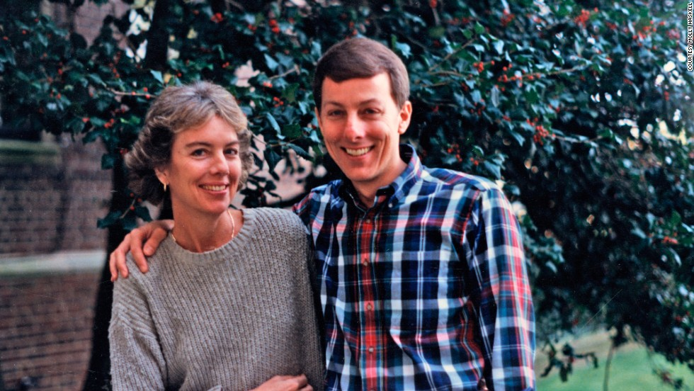 1992: Chevey and Molly at The Tuckahoe Apartments, where their mother lived during her final years.