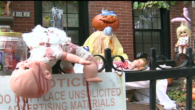 Macabre Halloween display are increasingly turning heads in China.