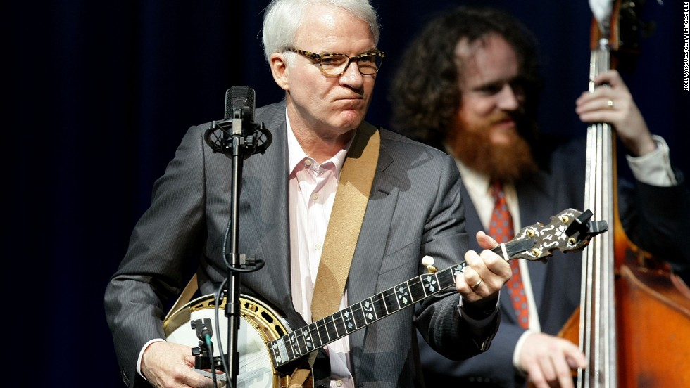 "Steve Martin escapes from acting in movies by performing as a bluegrass musician. He plays banjo -- sometimes with the Steep Canyon Rangers -- and even created the Steve Martin Prize for Excellence in Banjo and Bluegrass. He got <a href=""http://www.rollingstone.com/music/news/steve-martin-to-receive-prestigious-bluegrass-award-20150812"" target=""_blank"">a bluegrass award himself in October</a>."