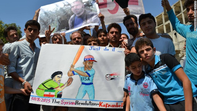 The northern Syrian town of Kafr Nabl has gained fame for its satirical portrayal of the conflict.