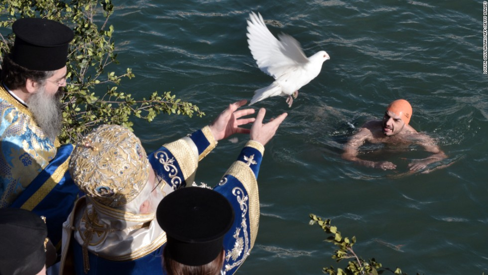 In some communities in Greece and Cyprus, Epiphany Day is celebrated by the blessing of the nearest body of water. A bishop throws a crucifix into the seas, at which point several volunteers dive in to fetch it. The lucky captor is said to have have good luck for the remainder of the year.