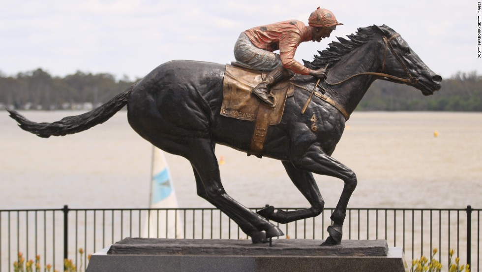 A statue was recently erected in Black Caviar's honor.