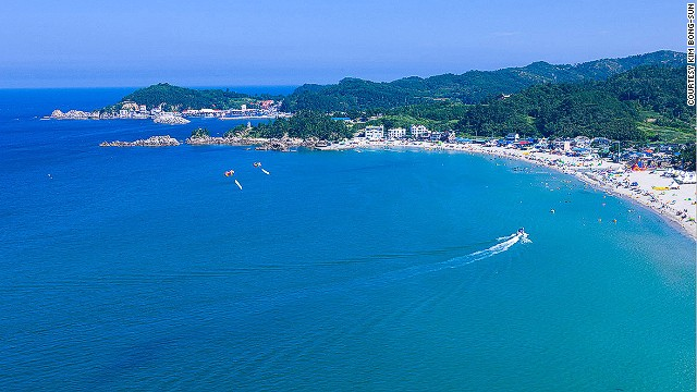 Officials haven't decided which beach will be sans-clothes. In this photo: Yonghwa Beach in Gangwon Province.