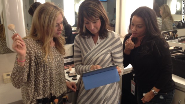 Taking a break: CNN's hair and makeup artists in New York browse Pinterest