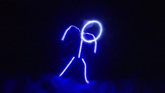 See baby's glowing stick figure costume