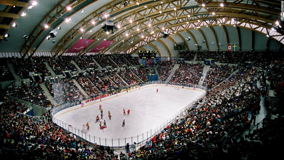The 11,500-capacity Hakons Hall hosted ice hockey during the 1994 Olympics. It was built at a cost of $40 million.