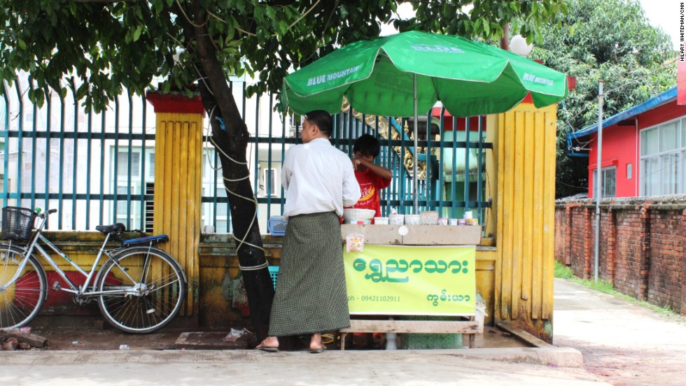 Betel quid stalls are a common sight in markets and on roads in central Yangon. They're chewed in many countries throughout Asia, despite the published health risks.