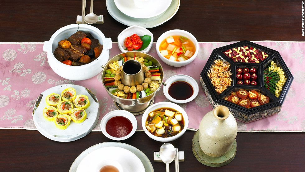 No individual entrees here. In Korea, it's all about sharing food. Be warned: taking the last bite of a particularly tasty dish is considered tactless.