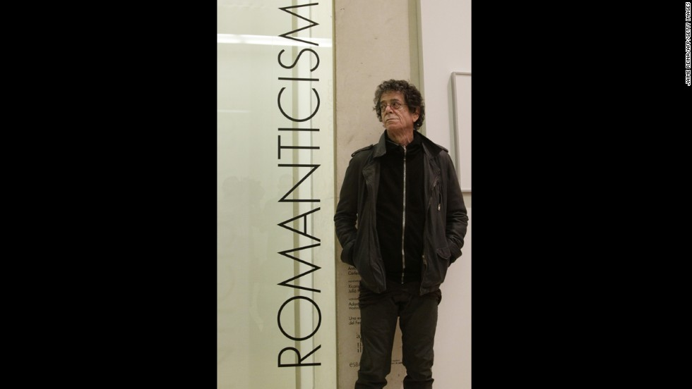 Reed poses at the Modern and Contemporary Art Museum on April 29, 2010, in Palma de Mallorca, where an exhibition of Reed's pictures are displayed.