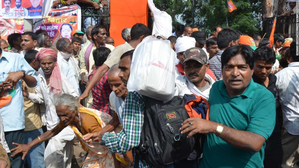 Five people were killed and 83 injured in bomb blasts near the venue of prime ministerial candidate Narendra Modi's rally in Patna on Sunday.