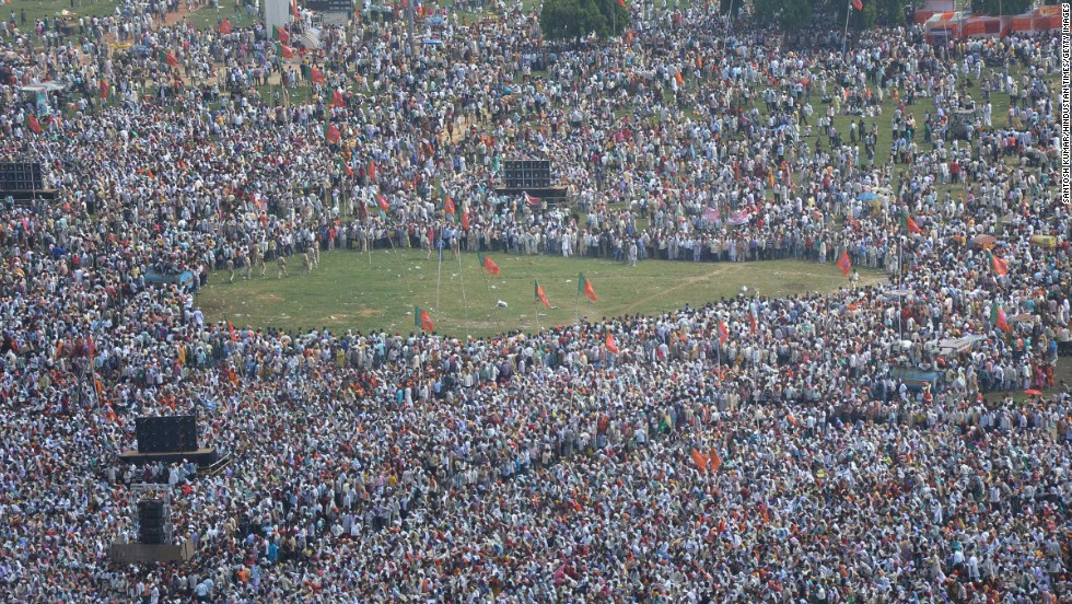 The blasts took place minutes before prime ministerial candidate Narendra Modi was scheduled to address a huge gathering in Patna, India.