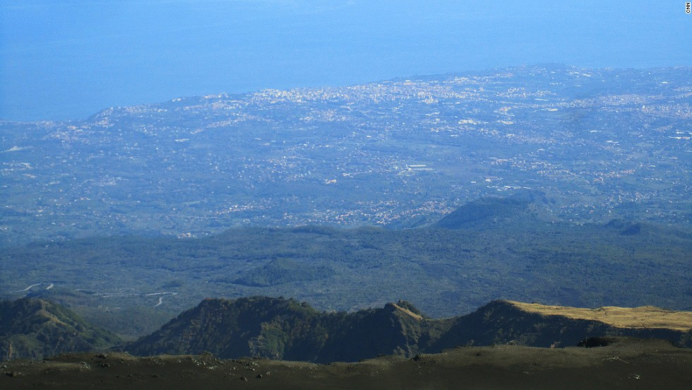The view toward Catania is a reminder that civilization isn't too far away.