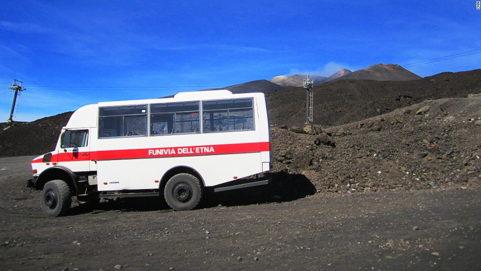 Visitors can take a cable car to about 2,800 meters up the mountain and transfer to 4x4 vehicles.