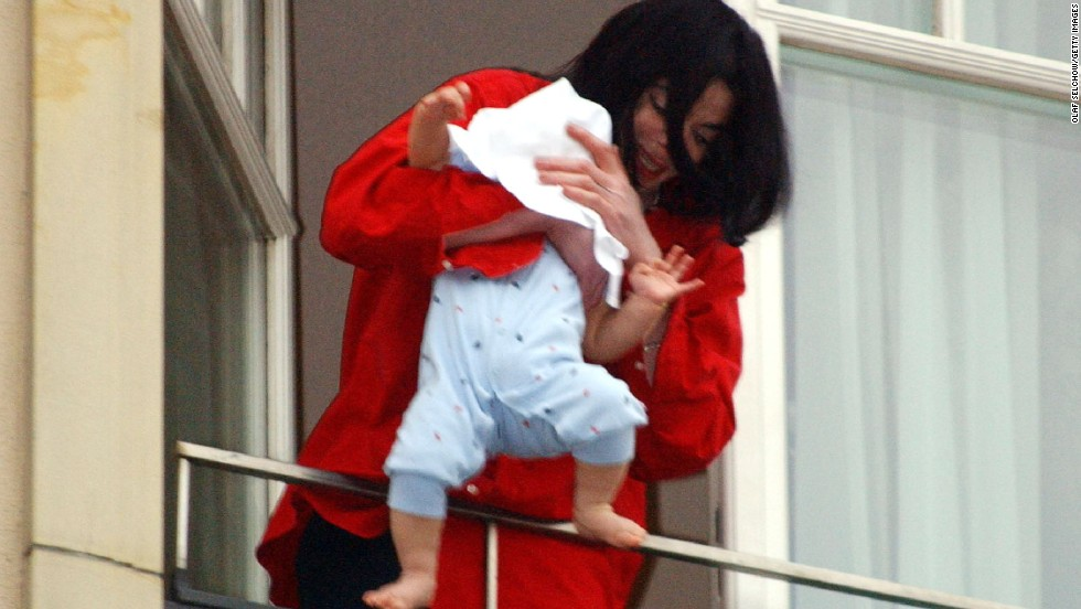 Remember when Singer Michael Jackson held his 8-month-old son Prince Michael II, aka Blanket, over the balcony of the Adlon Hotel in Berlin, Germany, in 2002? That didn't go over well.