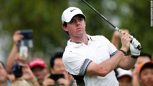 Rory McIlroy showed his best form with a flawless six-under 67 to beat Tiger Woods in China.