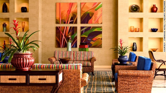 The lobbies at Four Points by Sheraton hotels, like this one in Miami Beach, have free WiFi.