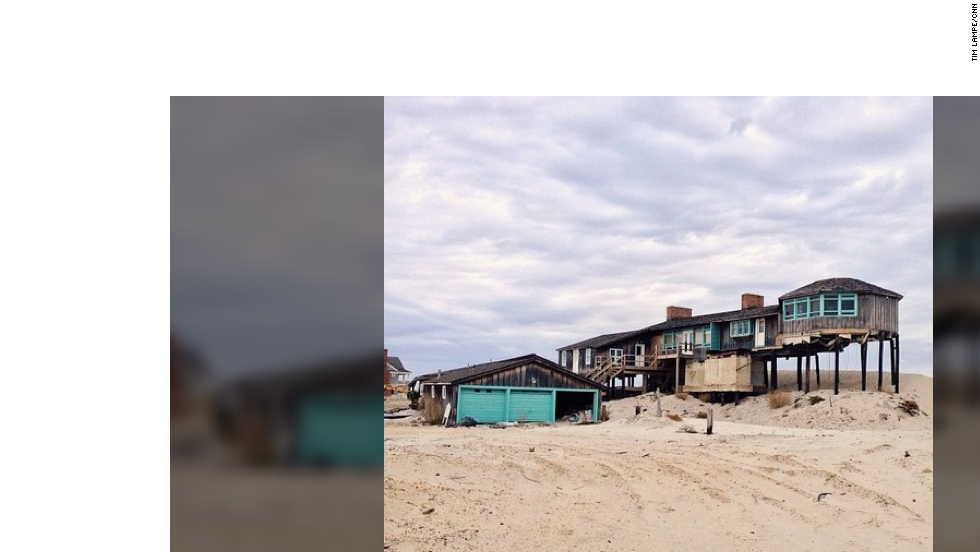Welcome to the Jersey Shore today. Homeowners from Bay Head, New Jersey, were required to raise their homes 6 feet or more to meet flood insurance requirements.