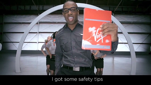 Virgin America's unusual safety video