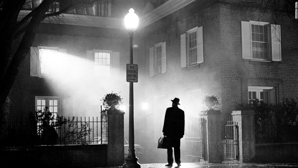 "The silhouetted image of actor Max von Sydow, playing Father Merrin, was featured on the poster for the December 1973 theatrical release of ""The Exorcist."""