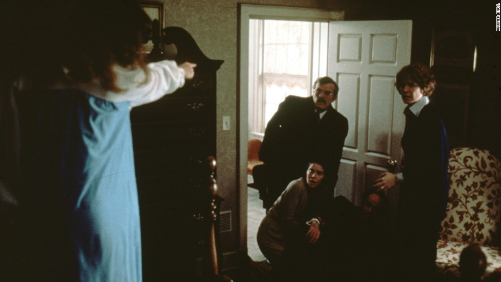 "Chris MacNeil, right, looks on in horror as her daughter, left, is controlled by a demon. ""The Exorcist"" remains one of the highest-grossing films of all time. Based on a 1971 novel by William Peter Blatty, ""The Exorcist"" was nominated for 10 Academy Awards, including Best Picture."