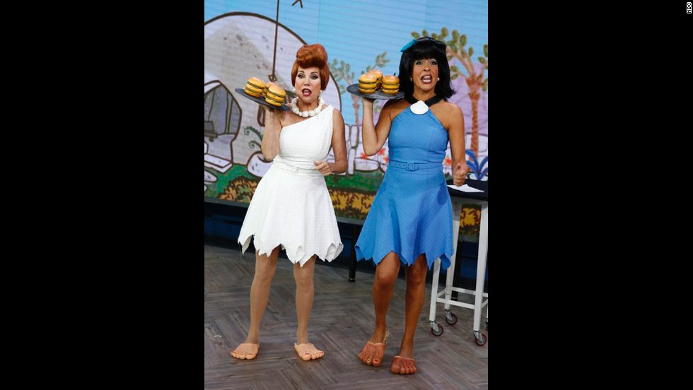 "Another ""Today"" show pair, Kathie Lee Gifford and Hoda Kotb, went retro -- like, ""Flintstones"" retro, as Wilma and Betty  -- for Halloween 2013."
