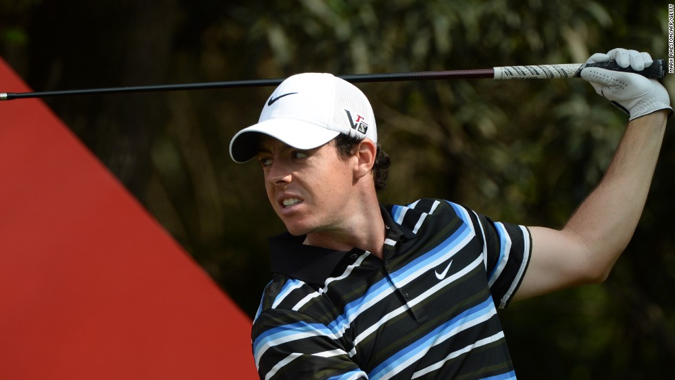 Rory McIlroy had problems with his driving as he dropped three shots on the back nine of his second round for a 72.