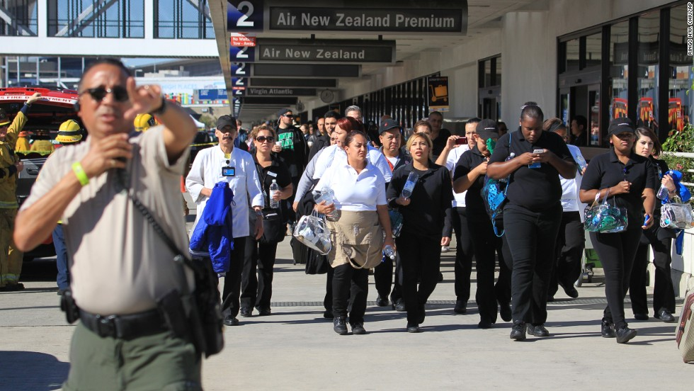 Passengers are directed outside Terminal 2.