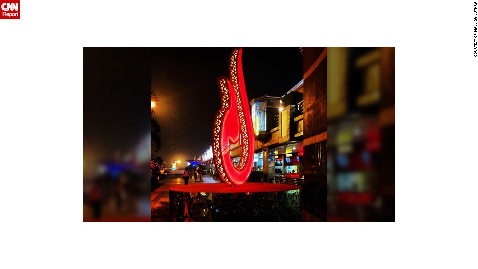 "Malliqa Luthra decided to take this photo of a <a href=""http://instagram.com/malliqa"" target=""_blank"">giant Diya symbol</a> in her hometown of New Delhi, India. ""I took it at Select Citywalk, a mall in New Delhi which was decorated beautifully for the festival season. The Diya is a symbol of light and thus prosperity during this auspicious festival of Diwal in India,"" said the 26-year-old."