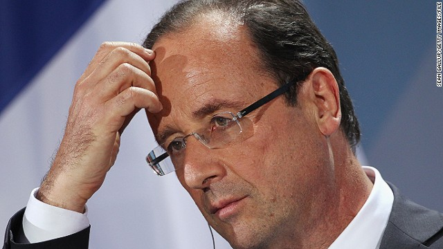 Francois Hollande's approval ratings plunge