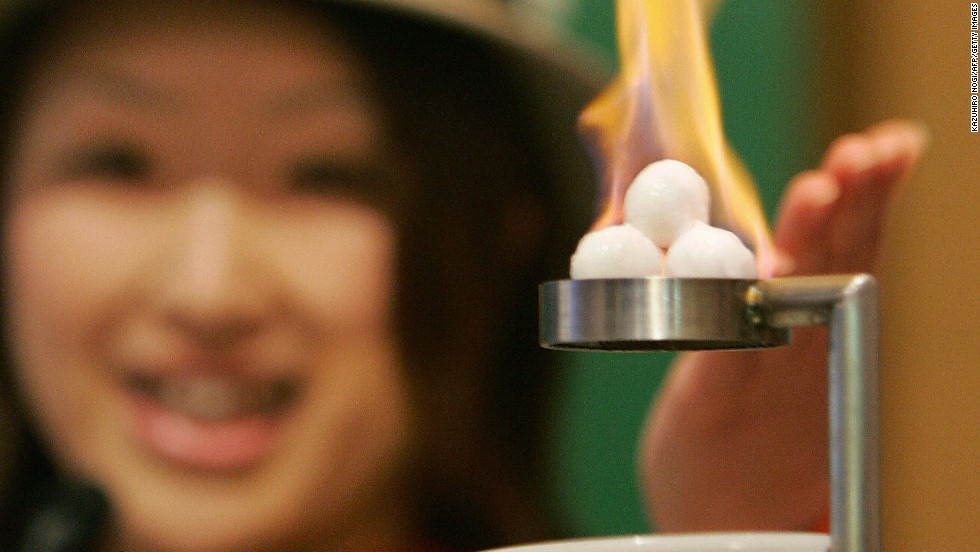 """Methane hydrate -- methane molecules trapped in a cage of frozen water --  could be the world's most abundant fuel source. <a href=""""http://www.bbc.co.uk/news/business-21752441"""" target=""""_blank"""">Japan became the first country to extract natural gas from methane hydrate in March</a>. But beware: this is a fossil fuel, and extracting reserves could release massive quantities of greenhouse gasses."""