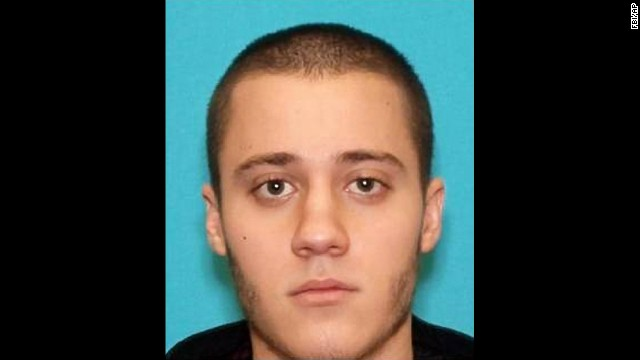 "This photo provided by the FBI shows Paul Ciancia, 23. Ciancia carrying a note that said he wanted to ""kill TSA"" pulled a semi-automatic rifle from a bag and shot his way past a security checkpoint at Los Angeles International Airport on Friday, Nov. 1, 2013 killing one Transportation Security Administration officer and wounding two others, authorities said. (AP Photo/FBI)"