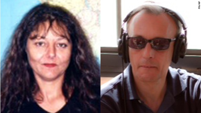 Ghislaine Dupont, left, and Claude Verlon were reportedly abducted after interviewing a rebel leader in Kidal, Mali.