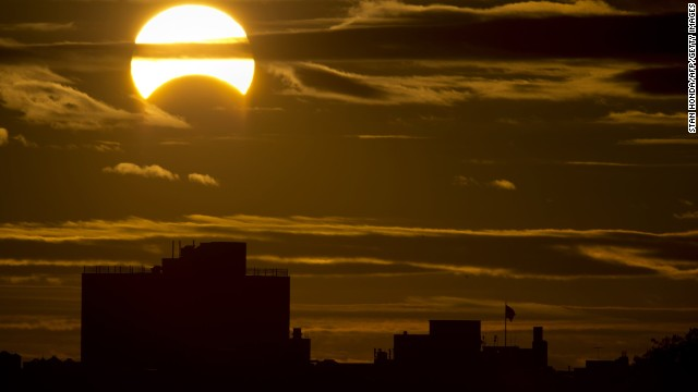 Rare solar eclipse visible from Earth