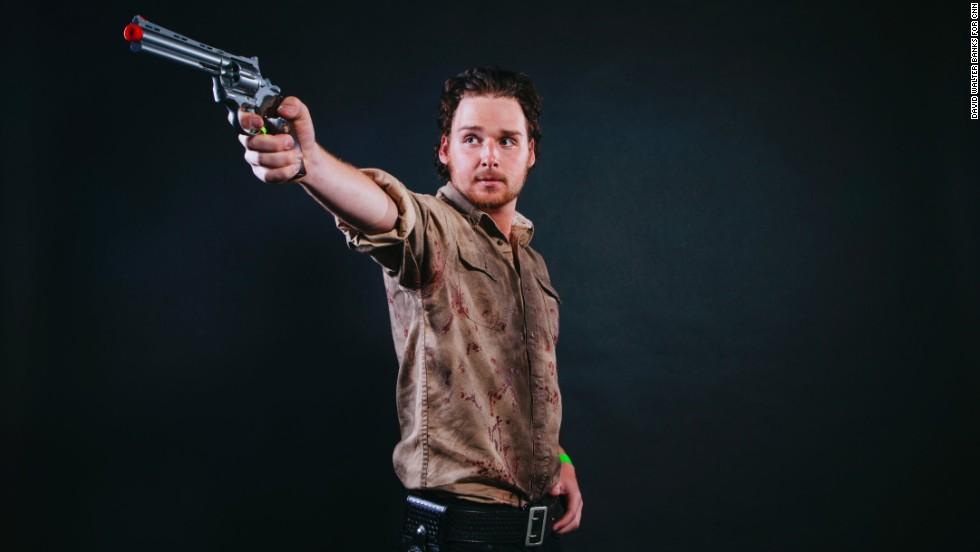 Jordan Nash, from Ohio, dressed as Rick Grimes.