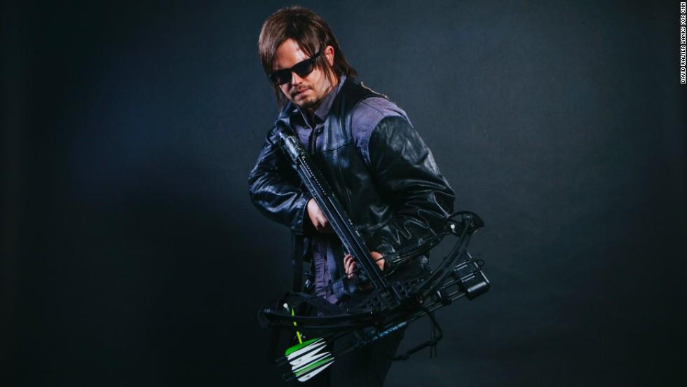 "Rich Feezle dressed as Daryl Dixon from ""The Walking Dead."""