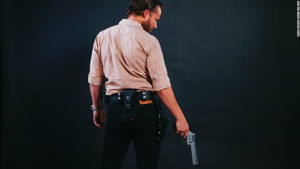 Jason Dempsey, from Cincinnati, Ohio, dressed as Rick Grimes.
