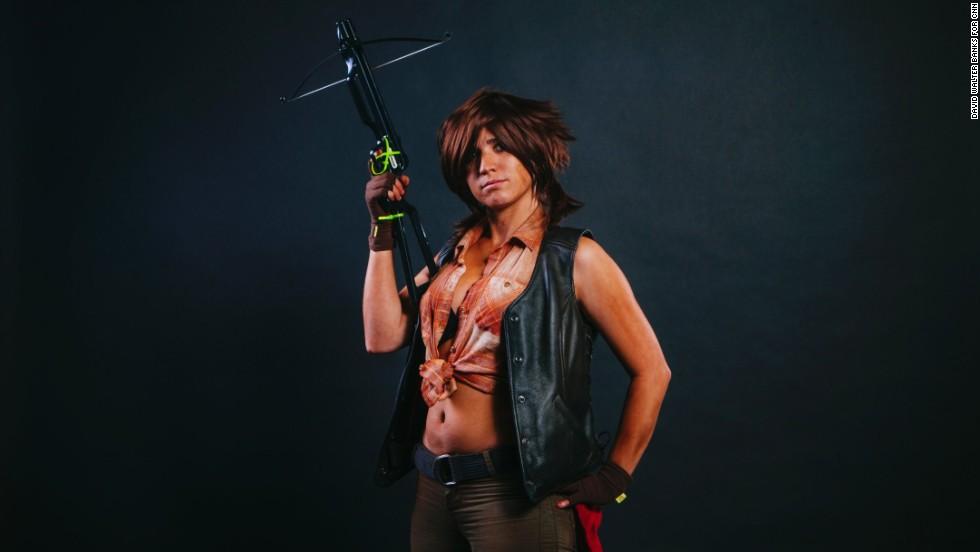 Kelsey Rose dressed as Daryl Dixon.